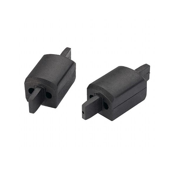 APOLLO langsverbinding, zwart, 2 stuks, max. 25A