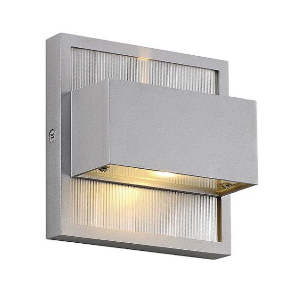 DACU UP-DOWN LED BEAM, wand armatuur, vierkant, zilvergrijs, 2x 1W, 2700K,