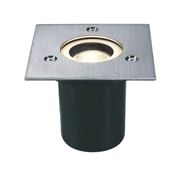 ADJUST GU10, grondspot, vierkant, inox 304, max. 35W, IP67