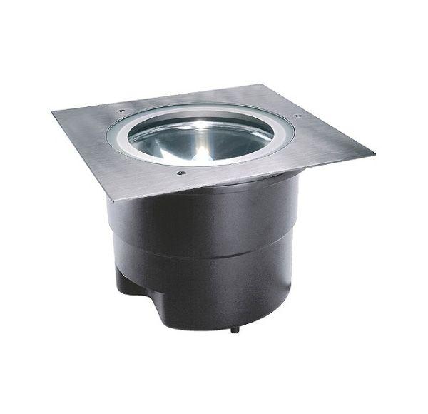ADJUST HQI 70, grondspot, vierkant, inox 304, G12, max. 70W, IP67