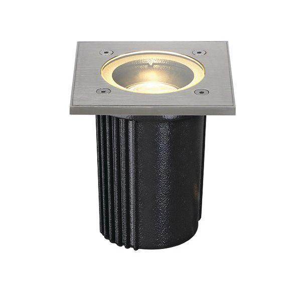 DASAR EXACT MR16, vierkant, inox 316 geborsteld, max. 35W, IP68