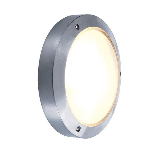 BULAN, plafond armatuur, rond, zilvergrijs, E14, max. 11W, gesatineerd glas