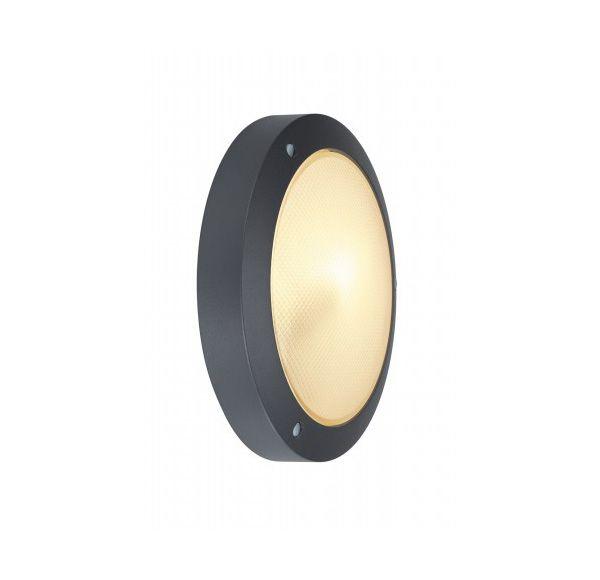 BULAN plafondlamp, rond, antraciet, E14, max. 60W, gesatineerd glas