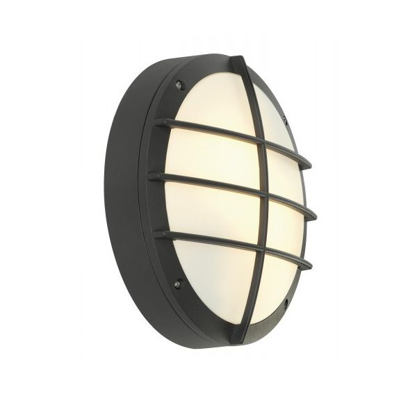 BULAN GRID, wand armatuur, rond, antraciet, E27, max. 2x 25W, PC cover