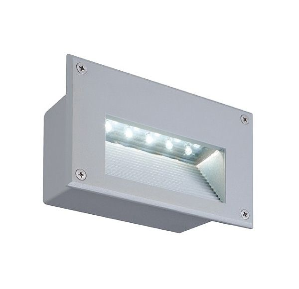 BRICK LED DOWNUNDER wand armatuur, rechthoekig, zilvergrijs,witte LED