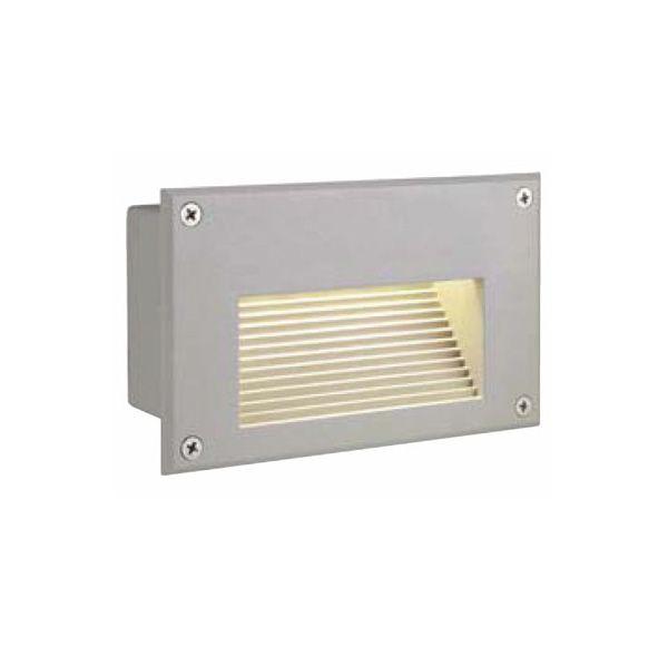 BRICK LED DOWNUNDER wand armatuur, rechthoekig, zilvergrijs, warmwit LED