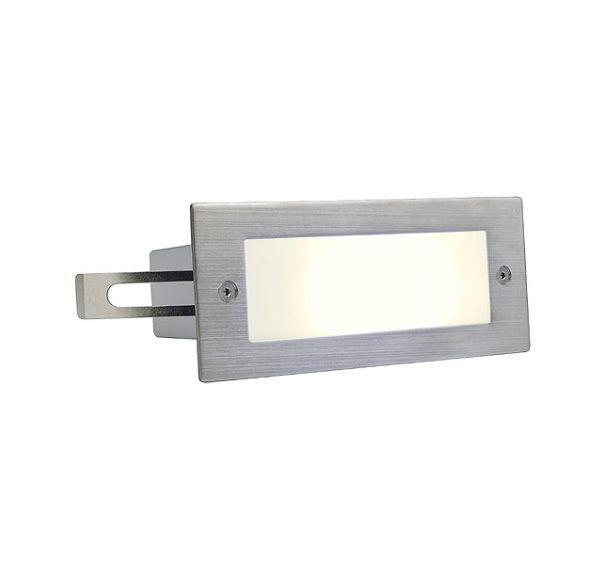 BRICK LED 16, inox 304 wand armatuur, geborsteld, 1W, wit, IP44
