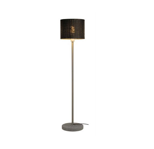 ADEGAN MANILA TL staande lamp, PE rotan antraciet, SST 304 en graniet