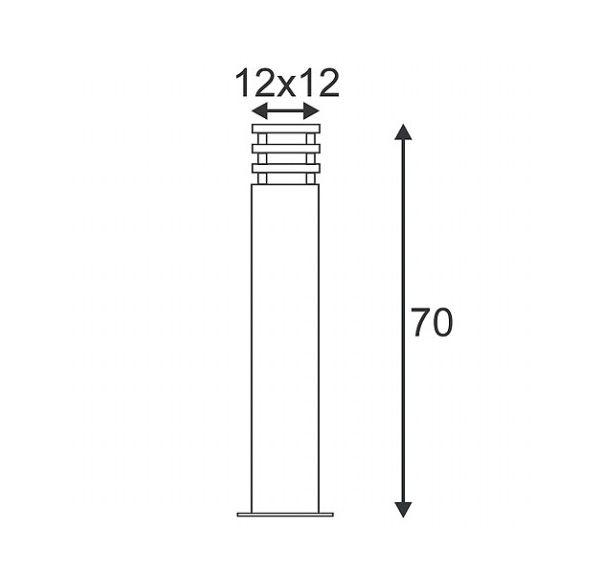 ARROCK SAND 70, zandsteen, E27, max. 15W