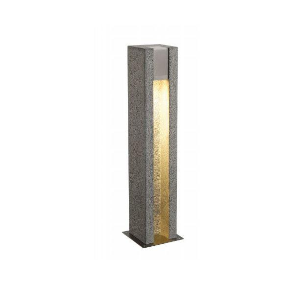 ARROCK SLOT GU10, vierkant, graniet, zout & peper, GU10, max. 4W LED