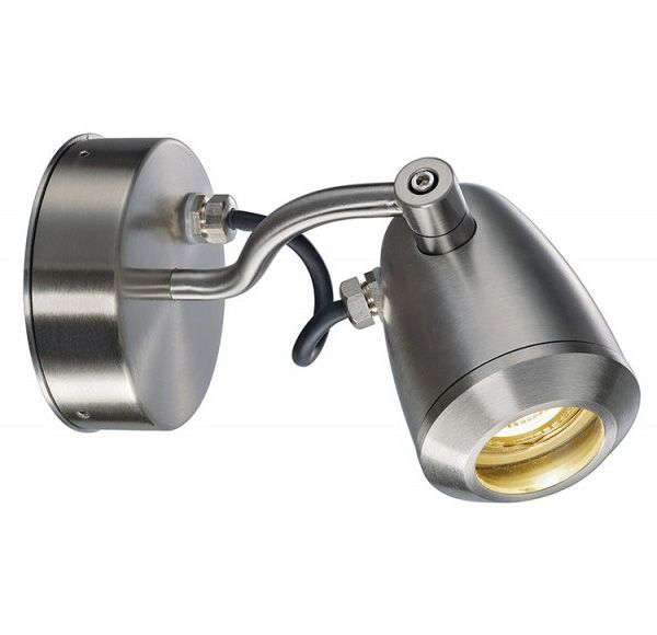 CV-SPOT WALL GU10 wand en plafondlamp, RVS, max. 4W