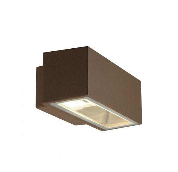 BOX R7s, wand armatuur, vierkant, koper-roest, R7s, max. 80W, up-down