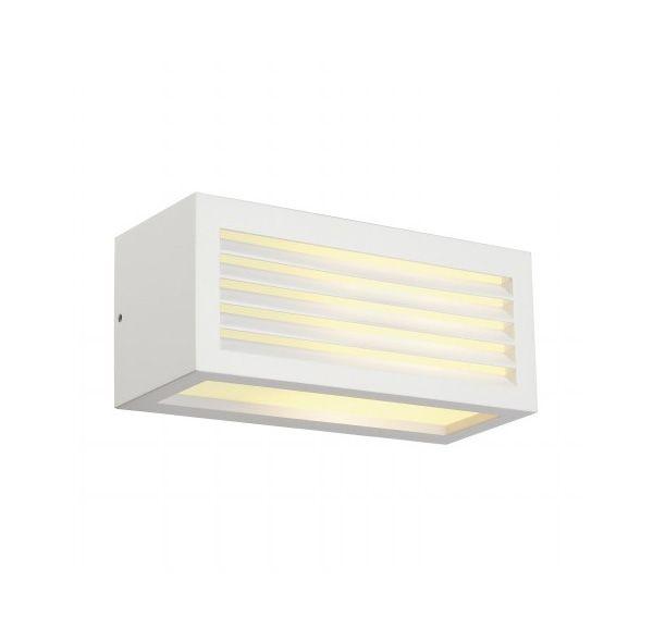 BOX-L E27, wand armatuur, vierkant, wit, E27, max. 18W