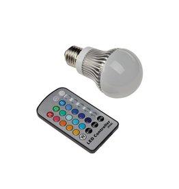Fiesta Bulb 3, E27, 5,5W LED, RGB kleurwisseling, met IR afstandsbediening, peervormig