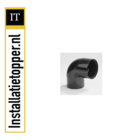 Dyka Luchttoevoerkanaal - PVC Ketelbuisbocht 80mm Zwart