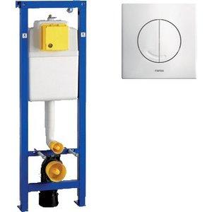 Wisa Wisa XS WC-element frontbediening met bedieningspaneel Argos Wit