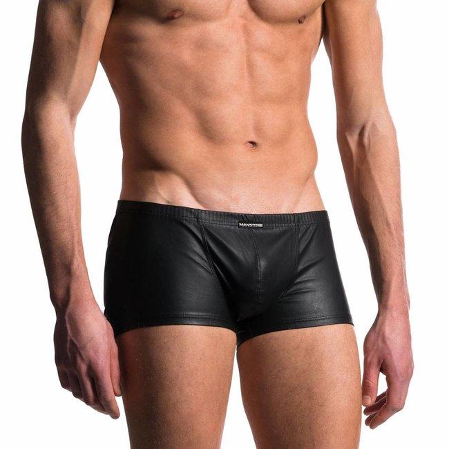 Manstore Boxer Leather Look <black> ·M104·