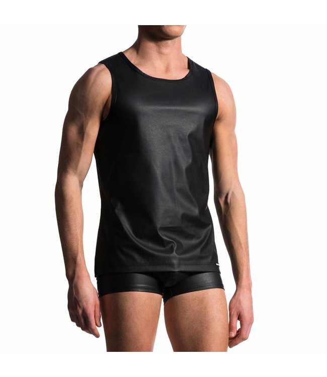 Manstore Manstore M104 Slim Tank Leather Look <black>