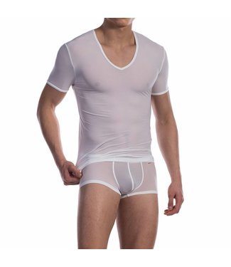 Olaf Benz  V-shirt ultra stretch <wit> - Olaf Benz Phantom