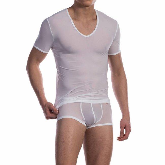 Olaf Benz V-shirt ultra stretch <white> ·RED0965 Phantom·
