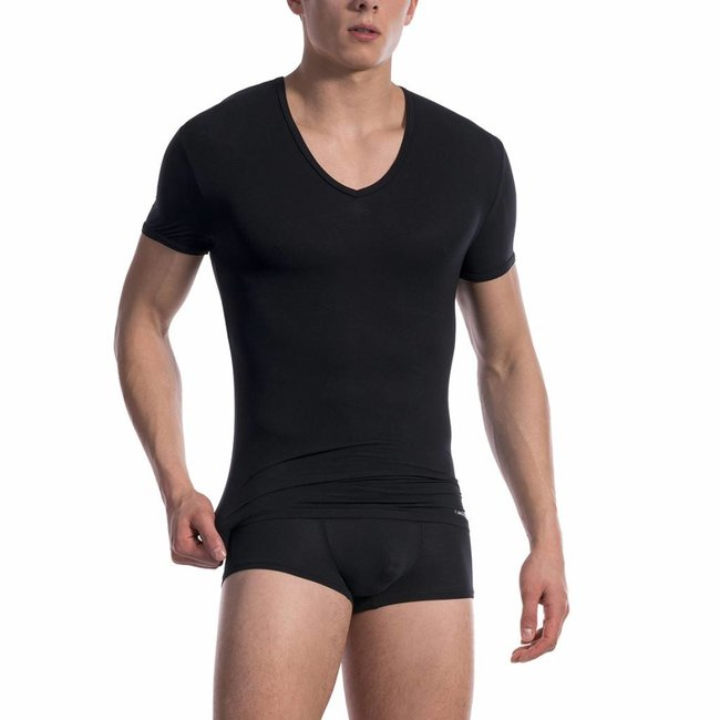 Olaf Benz V-shirt ultra stretch <black> ·RED0965 Phantom·
