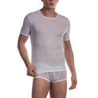 T-shirt (doorzichtige lijntjes) <wit>