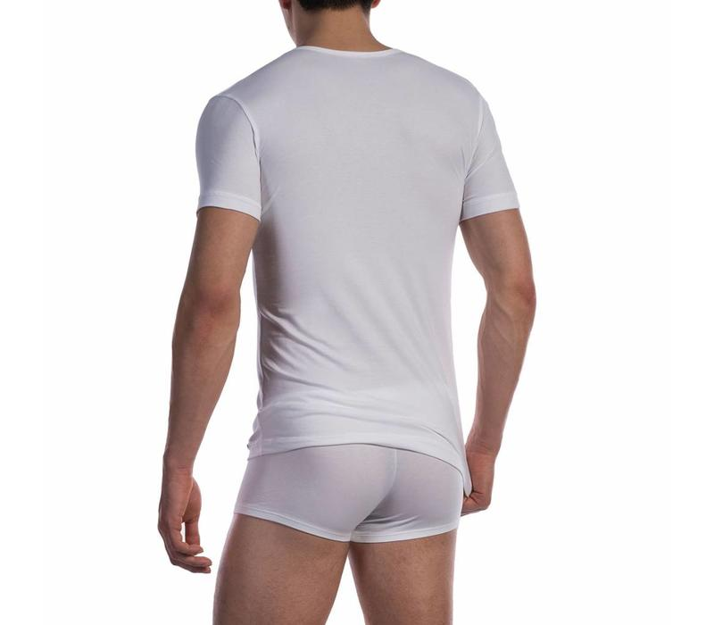 V-shirt katoen classic <wit>