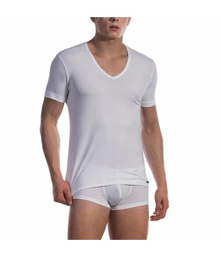 Olaf Benz  Shirt met diepe V-hals katoen classic <wit> - Olaf Benz 1601*