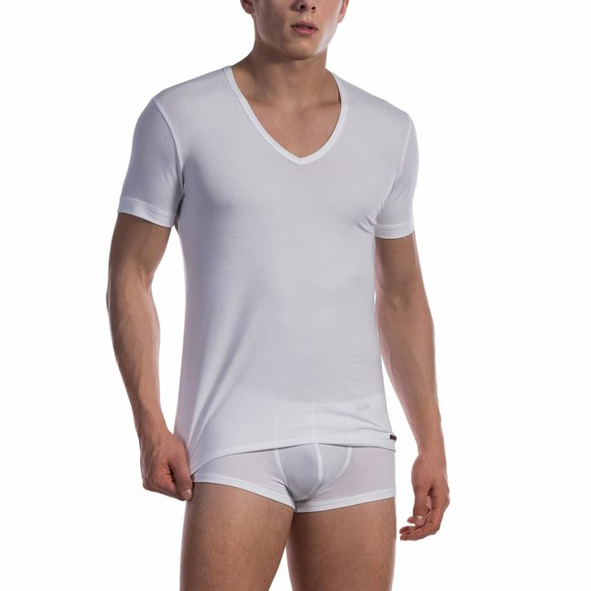 Olaf Benz Cotton Classic V-shirt (Low) <white> ·RED1601·