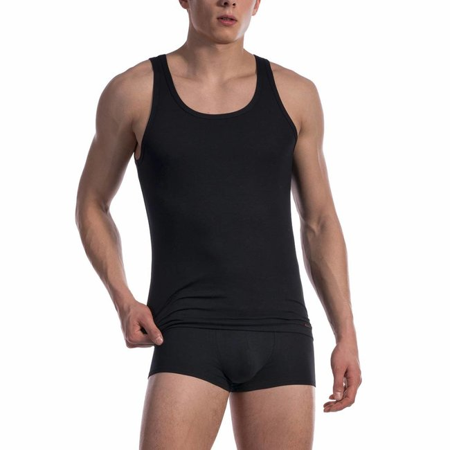 Olaf Benz Cotton classic Singlet <black> ·RED1601·