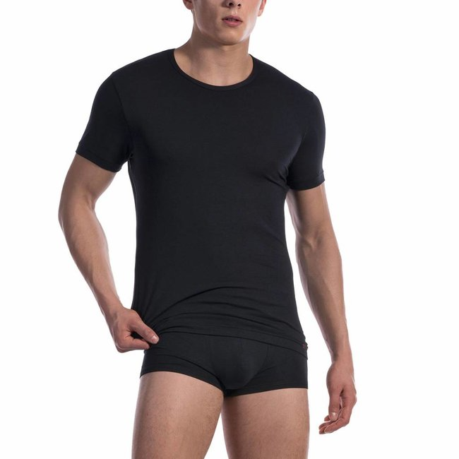 Olaf Benz  Olaf Benz RED1601 T-shirt cotton classic <black>