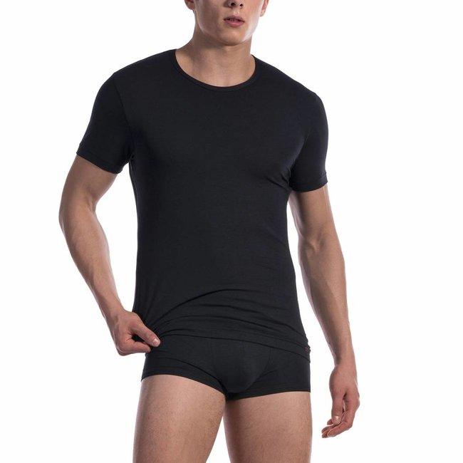 Olaf Benz  T-shirt katoen classic <zwart> - Olaf Benz 1601*