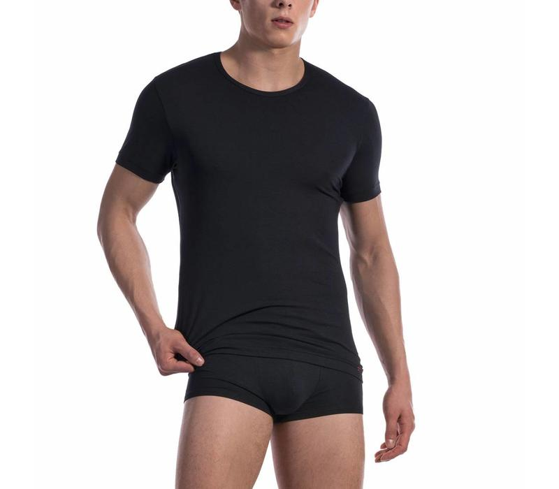 T-shirt katoen classic <zwart>