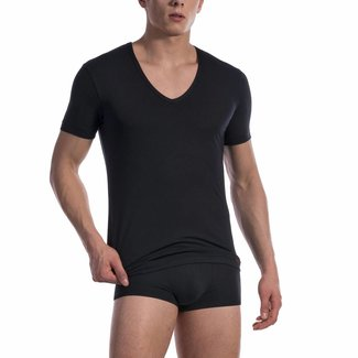 Olaf Benz  Olaf Benz RED1601 Cotton Classic V-shirt (Low) <black>