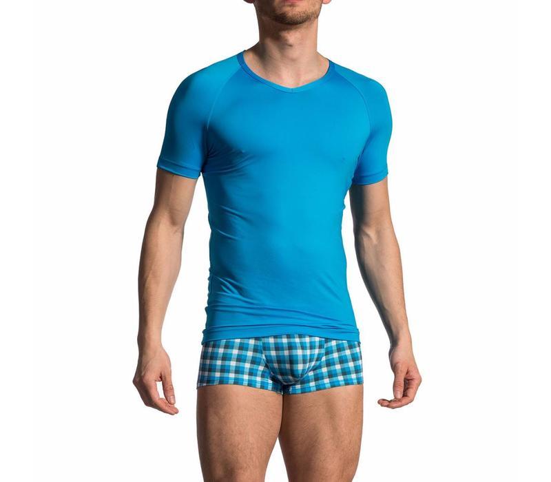 V-shirt <blauw>
