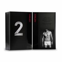 Boxerpants katoen (2 pack) <zwart>