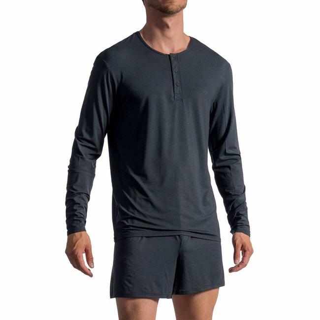 Olaf Benz Buttonshirt met zijde <anthraciet> ·PEARL1757·