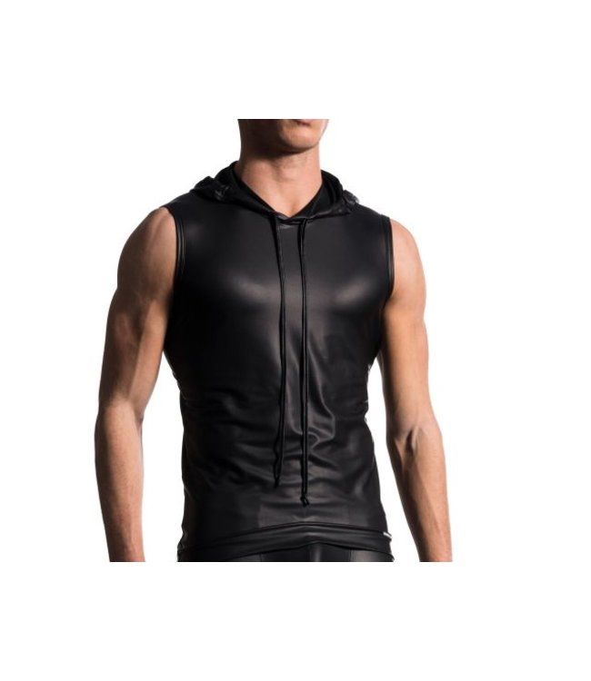 Manstore Manstore M510 Hoody Tank Soft Leather Look <black>