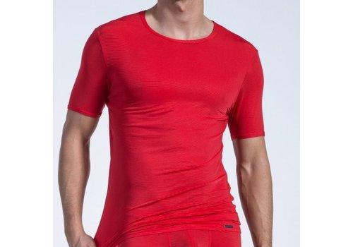 Olaf Benz  T-shirt (doorzichtige lijntjes) <rood> - Olaf Benz 1201