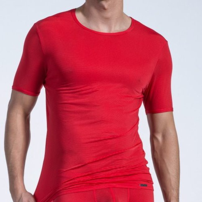 Olaf Benz T-shirt <transparent red> ·RED 1201·
