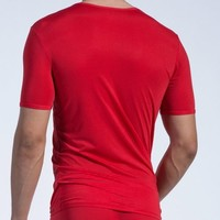 T-shirt (doorzichtige lijntjes) <rood>