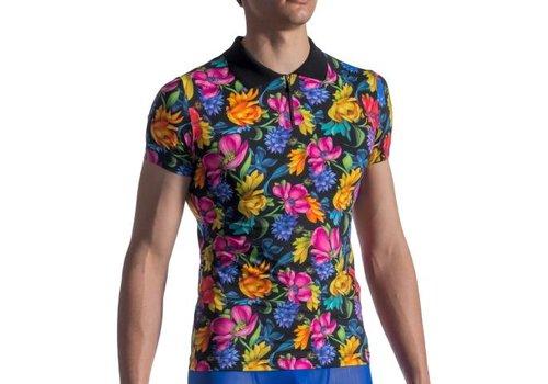 Manstore Polo Shirt <zwart/bloemen> - Manstore M802