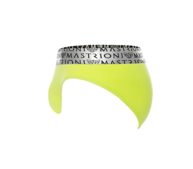 Silver Triple Panther Briefs <lime green>