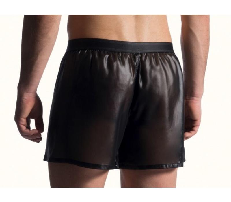 Wet Look Shorts <zwart>
