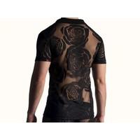 Polo Shirt <flora zwart>