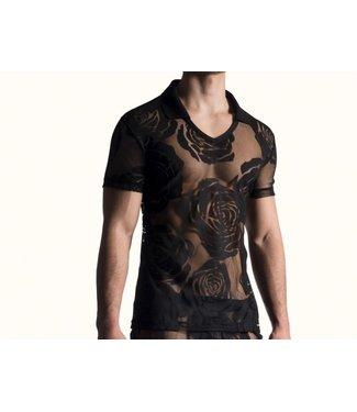 Manstore Polo Shirt <flora zwart> - Manstore M815