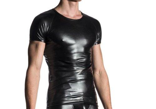 Manstore Brando Shirt Wet Look <zwart> - Manstore M107