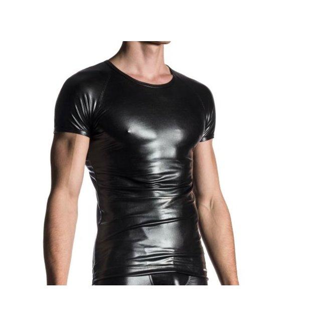 Manstore Brando Shirt Wet Look <black> ·M107·