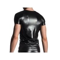 Brando Shirt Wet Look <zwart>