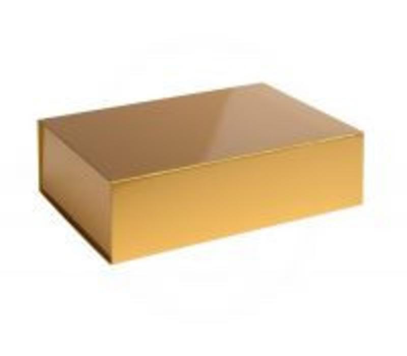 Luxe geschenkverpakking in glanzend goud